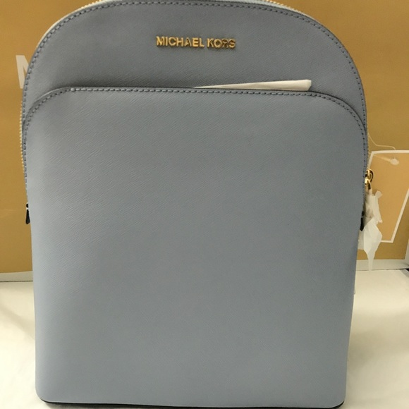 f11ca8c6e2e0 Michael Kors Bags | Micheal Kors Large Emmy Backpack Pale Blue ...